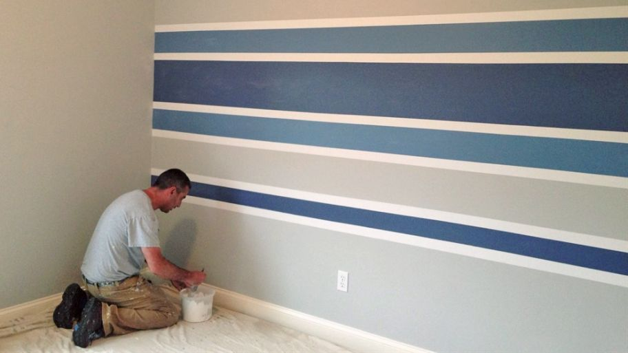 Painted Stripes on Wall
