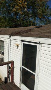 Mobile Home Roof Debris
